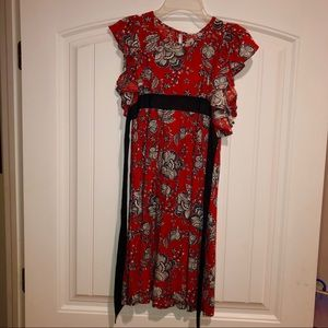 Red and Navy Size 13 Girls Dress (10-13 year olds)